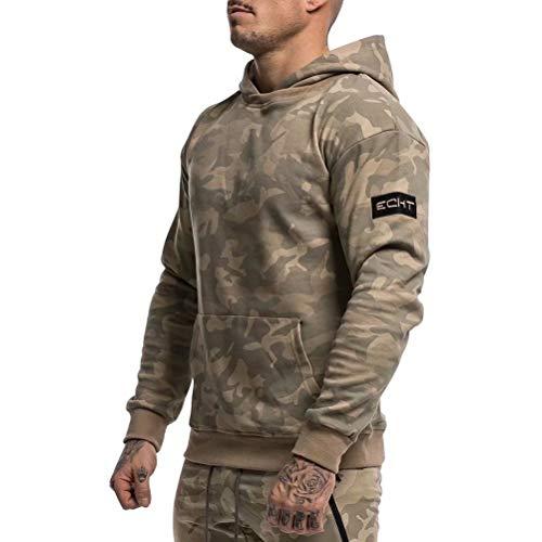 Anmurトレーニング パーカー メンズ ジム ウェア ジャージ ポケット付き パーカ トレーナーパーカー スウェットシャツ ミリタリーカーキXL