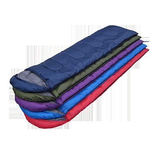 Saco de dormir para exteriores, portátil, ligero, transpirable, cálido y suave, manta para exteriores rellena de algodón, saco de dormir para adultos, niños y adolescentes, camping, camping, senderi