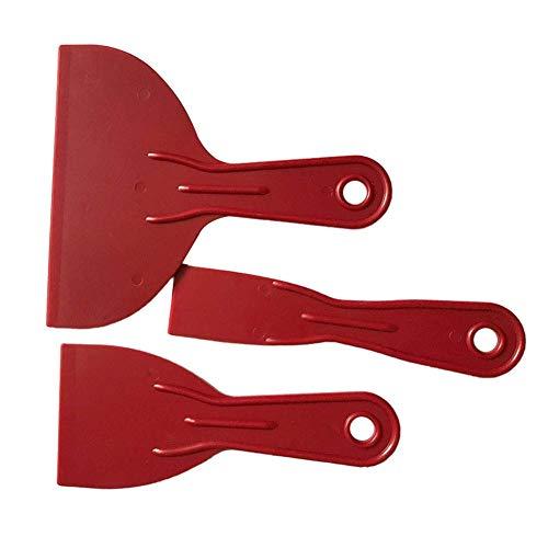Txyfyp Juego 3pcs Suelo Reutilizable Hogar Limpio Rojo Duradero Pared Construcción Espátula Pequeño Grande Mano Herramientas Esparcidor Relleno