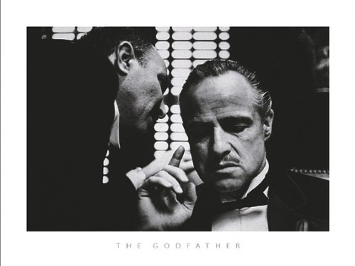 Close Up Der Pate Kunstdruck The Godfather, Marlon Brando (80cm x 60cm) + Ü-Poster