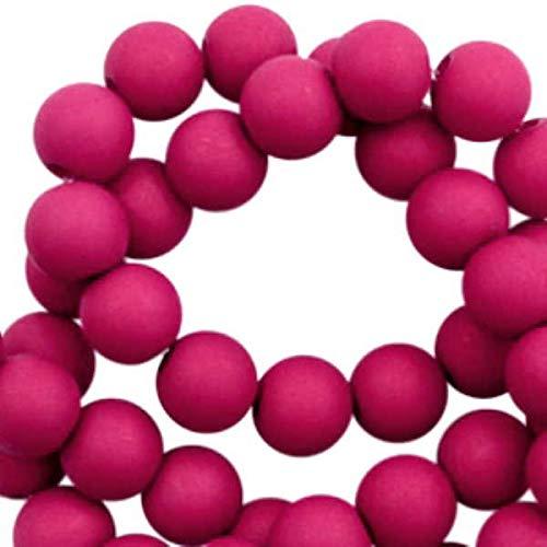 Sadingo Perlas de plástico de 8 mm, color magenta (400 unidades) para hacer joyas para niñas, pulseras, cadenas.