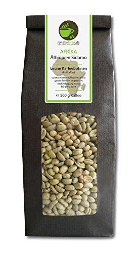Rohkaffee - Grüner Hochland Kaffee Äthiopien Sidamo (grüne Kaffeebohnen 500g)
