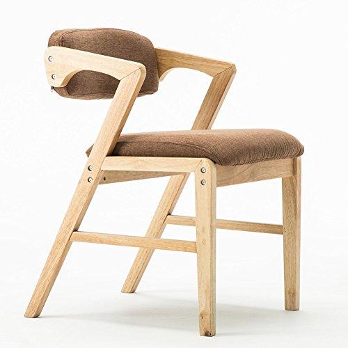 GY Chaise - Chaise Nordique Vintage en Bois Massif, Salon, Chambre à Coucher, Salle à Manger, Chaise Longue à accoudoirs (Taille 58X52X71 cm) /+-+/ (Couleur : Brown)