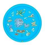 Neckip Splash Pad - Sprinkler Play Matte - 170cm Sommer Garten Wasserspielzeug Kinder Baby Pool Pad Spritzen für Outdoor Familie Aktivitäten Party Strand Kinder Haustiere