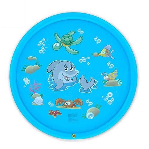 lossomly Splash Pad Splash Play Matte Sprinkler Agua Juego Sprinkle and Splash Alfombrilla de juego hinchable Rasen Agua Spray de juego seguro PVC Agua Juguetes de agua para niños mayores de 3 años