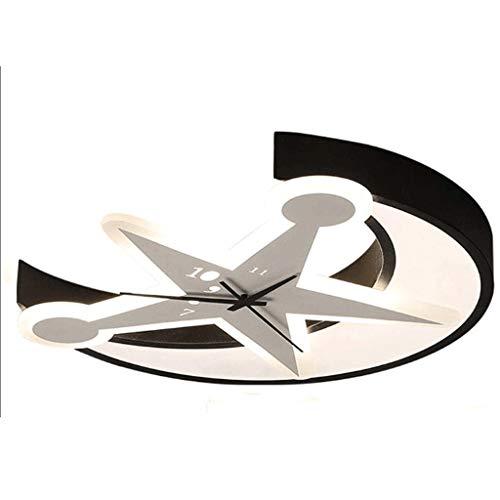 JYDQM Luz de Techo - Estrella y la Luna Creativo Lámparas de Techo, Creativas Elegantes lámparas LED, for Pasillo Escalera Dormitorio Cocina 50x6cm