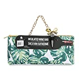 Wild Eye Designs Insulated Wine Bag Trendy Women's Clutch Bag | Holds 1 Standard Bottle of Wine | Fashionable Lunch Bag Purse | Incl. Ribbon Wine Stopper