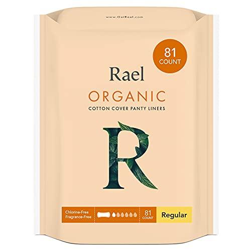 Rael salvaslip regular ultrafinos en algodón orgánico certificado sin perfume, cloro ni colorantes añadidos (2 pack - 80 unidades)