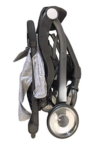 Compact Lightweight New Born Baby Travel Basket Car Seat Stroller Pram Buggy Pushchair One Hand Tri-Fold (Grey Pushchair) just 4 baby Suitable from birth with flat reclining seat 5- point harness, Extendable canopy with visor. All wheel suspension for smooth ride, Removable Hand bar for extra secure 2