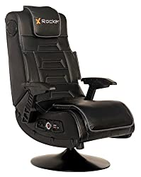 Vibrating Black Leather Video Gaming Chair