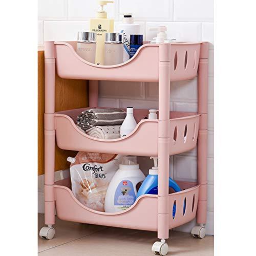 SuoANI Servierwagen IKEA,Allzweckwagen mit Rollen,Kunststoff,Multifunktionswagen,vibrationsarme 360° drehbare Rollen,Für Küche und Wohnzimmer