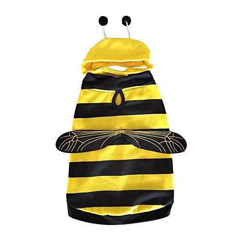 FZ FUTURE Honig, Halloween Haustier Pullover, Halloween Haustier Mantel, Herbst und Winter warm halten, Nettes Cosplay, für Party Weihnachten Special Events Kostüm,L