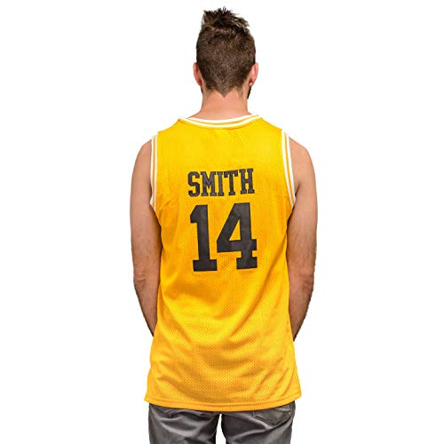 Bel Air Basketball Jersey Smith Gold/Yellow #14 (Adult X-Large)