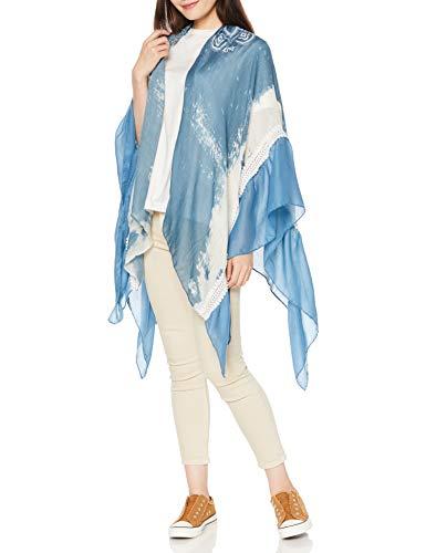 Desigual Kimono_Sunny Mood Sciarpa, Blu (Blue Moon 2051), Taglia Unica Donna
