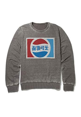 Recovered - Sweatshirt mit klassischem chinesischem Pepsi-Logo - Mittelgrau - L