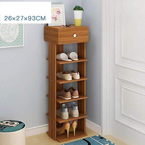 ZXL Schoenenkast, 6/7/8 niveaus, stapelbaar voor schoenen, rek met laden voor schoenen, ondersteunt planken voor schoenen (kleur: B, maat: 6 niveaus