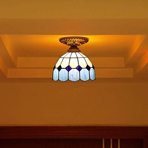 JX Gyy Home Hotel Lighting Exquisite Candelaros Continental Schlafzimmer Kreativ Flur Deckenleuchte Mittelmeer Warme Farbe mit Balkon Läufer Deckenlampe E27