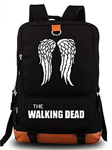 Bkckzzz Sac à Dos pour Sac à Dos pour Sac à Dos pour Ordinateur Portable Sac à Dos pour The Walking Dead Cosplay (Black 1) @ Black_1