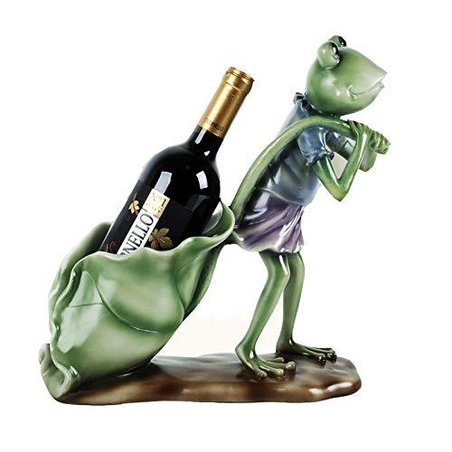 DSYYF Frosch Wein Flaschenhalter Skulptur Figuren handgefertigte Kunsthandwerk Bar oder Tisch Weinregale & Ständer Dekorative oder skurrile Geschenke für Weinliebhaber,A