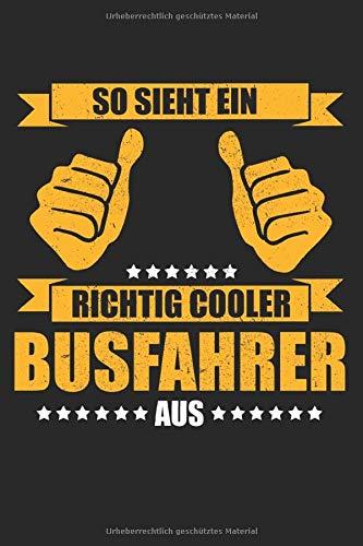 Blanko Notizbuch / Geschenk für Busfahrer Linienbus Schulbus: Busfahrer Geschenke  Männer