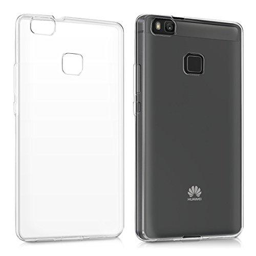 kwmobile Funda Compatible con Huawei P9 Lite - Carcasa de TPU para móvil - Cover Trasero en Transparente
