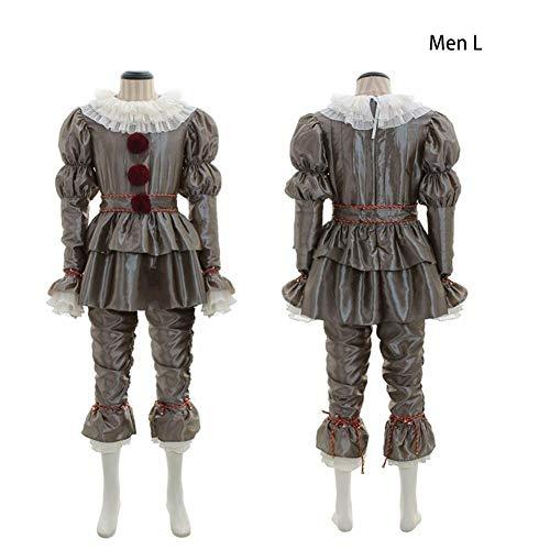 vogueyouth Tanzen Clown Cosplay Halloween Kostüm Deluxe Pennywise Outfit Rollenspiel Set Kostüm für Erwachsene Kostüme judicious