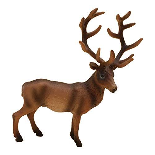 H HILABEE ReindeerLifelike Toys PVC Non-toxic Reindeer Ornaments Crafts