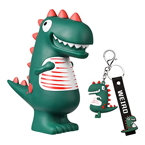 Dinosaur Piggy Bank, Unbreakable Plastic Coin Bank, Cute Baby Saving Money Bank for Kids Boys Girls, for Christmas New Year Birthday, Green ( Small )