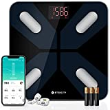 Etekcity Scale for Body Weight, Smart Digital Bathroom Weighing Scales with Body Fat and Water Weight for People, Bluetooth BMI Electronic Body Analyzer Machine, 400lb