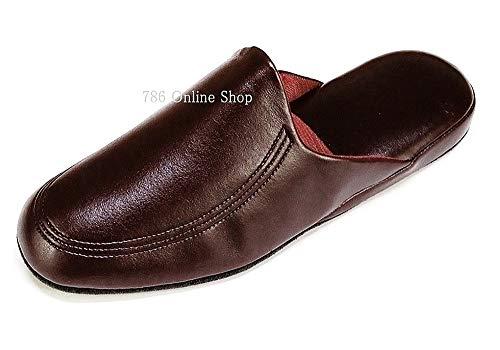 Magnus Herren Hausschuhe Badeschuhe (02C) Badelatschen Pantoffel Pantoletten Schuhe Neu Größe 43, Farbe Braun