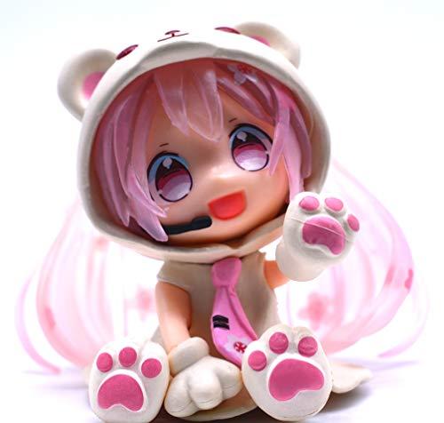 Anime Domain Vocaloid Chibi Figur von Miku Hatsune im Eisbär Kostüm (Pink)
