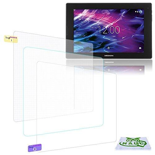 NAUC Bildschirm-Schutz-Folie Medion Lifetab P10506 Schutzfolie 2X klar Universal