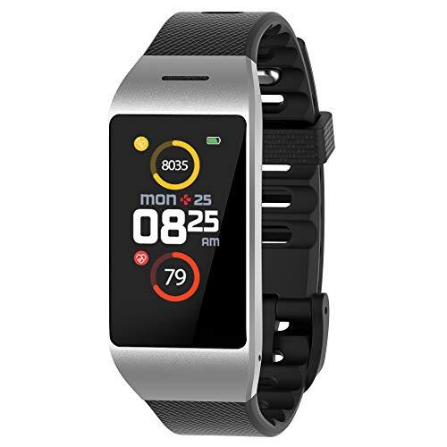 MyKronoz ZeNeo Smartwatch Silber IPS 2,9 cm (1.14 Zoll) - Smartwatches (2,9 cm (1.14 Zoll), IPS, Touchscreen, 96 h, 26 g, Silber)