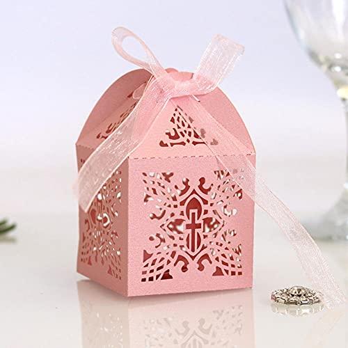 BAWAQAF Cajas de regalo, 10 cajas de caramelo, para ducha, bautismo cumpleaños, pequeñas cajas de regalo, caja de regalo de decoración de Pascua de primera comunión