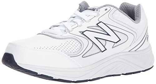 New Balance Men's 840 V2 Walking Shoe, White/Navy, 13 W US