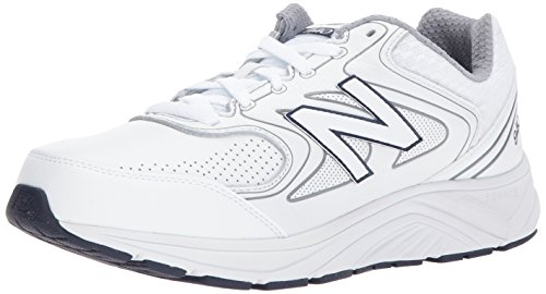 New Balance Men's 840 V2 Walking Shoe, White/Navy, 10.5 XW...