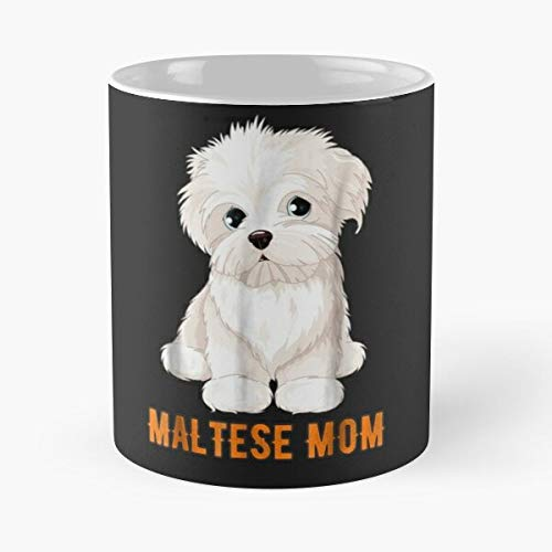 Dog Lovers Maltese Mom Gift Ideas F-ace Classic Mug - 11 Ounces Funny Coffee Gag Gift.the Best Gift For Holidays-miinviet.