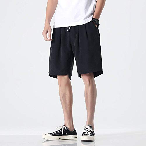 GLGSHOULIAN Short d'été pour homme avec poches - Pour fitness, plage, bodybuilding - Couleur unie - Orange - Respirant, décontracté - Pour la course à pied, la gym, le travail