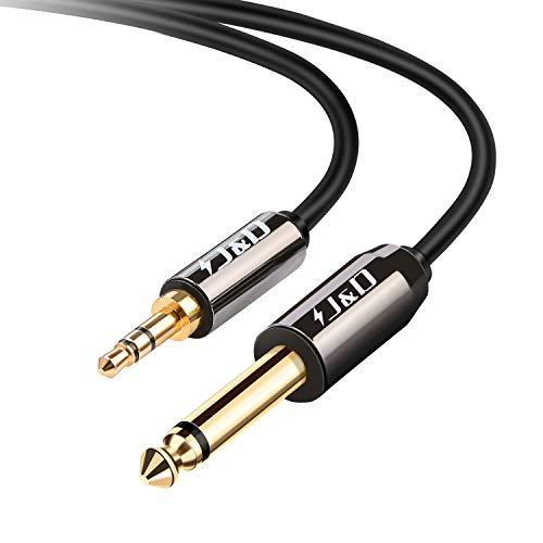 J/&D Cavo audio stereo resistente con 2 connettori RCA maschio e 2 connettori RCA femmina in rame placcati oro 15 Feet
