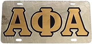 Alpha Phi Alpha Fraternity License Plate Car Tag for Front Back of Car Divine 9 (Car Tag - 6005)