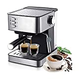 Máquinas de café Máquina de café espresso eléctrica 1.6L Molinillo de café 15 Bar Express Cafetera eléctrica de espuma Electrodomésticos de cocina Regalo Bomba tradicional Máquina de café Espresso Máq