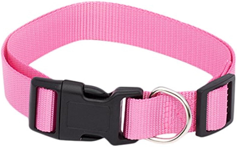 Pet Champion Classic No Pull Extra Durable Adjustable Dog Collar, Pink Lemonade, Medium 5 8in x 1016in