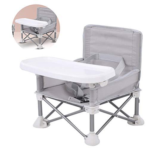 MeiLiu Sitzerhöhung mit Tablett für Baby, tragbarer Klappstuhl Esszimmerstuhl Aktivitätsstuhl, zum Essen, Camping, Strand, Rasen, Aluminiumrahmen, sicher, schnell, einfach und kompakt