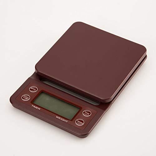 Báscula Digital de Cocina Balanza de café por goteo portátil de 3 kg / 0,1 g con temporizador Balanza de cocina electrónica digital Balanza de pesaje de cocción LCD de alta precisión