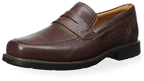 Rockport Mens Liberty Square Penny Slip On Loafer Shoes, Brown 10.5