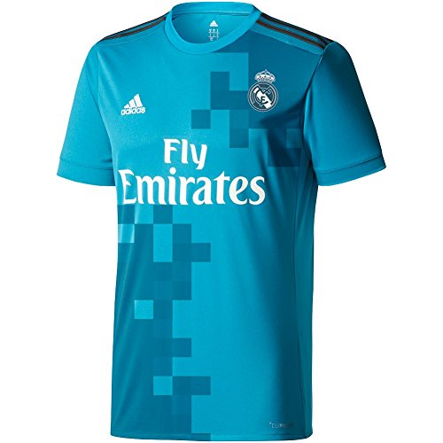adidas Mens Real Madrid 17/18 3Rd Replica Jersey Blue Grey XL