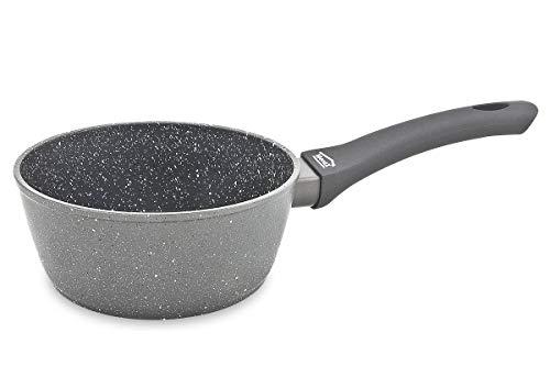 Menax FOCUS - Casseruola di Alluminio con Manico Lungo - Rivestimento Antiaderente 'StoneTech' - Ø 18 cm