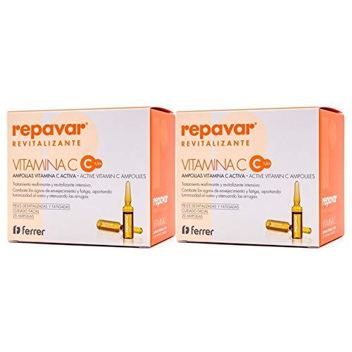 Repavar Revitalizante Vitamina C 5,5% - 20ampollas. Pack 2Un.