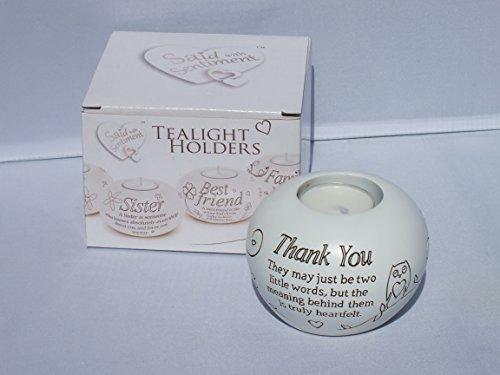 Thank You Gift - Sentimental Tealight Holder In Gift Box