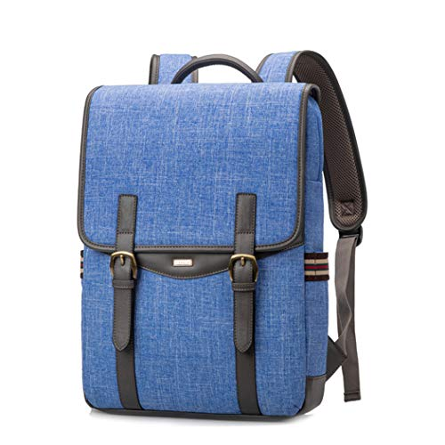 Women Multifunction Backpack Back Anti Theft 14Inch 15Inch Laptop Waterproof Backpack High Capacity Blue 15 Inches